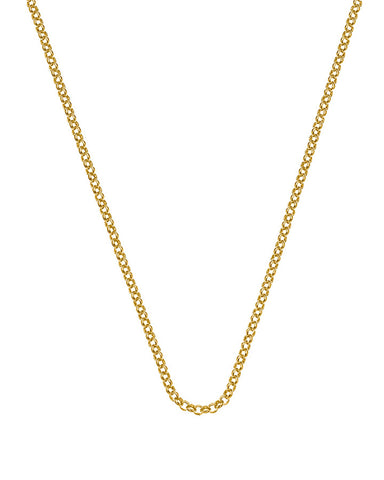 "Emozioni Yellow Gold Plated 18"" Belcher Chain"