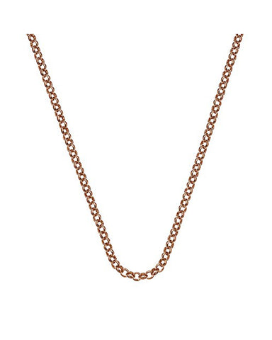 "Emozioni Rose Gold Plated 18"" Belcher Chain"