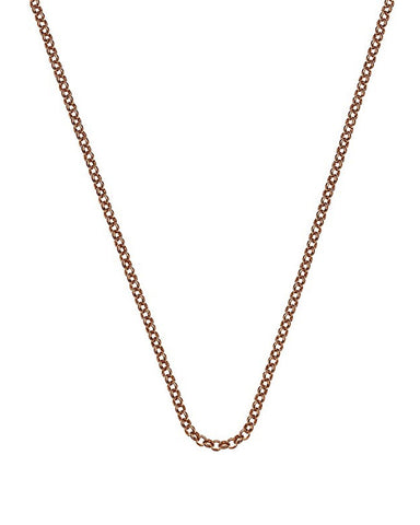 "Emozioni Rose Gold Plated 30"" Belcher Chain - CH014"