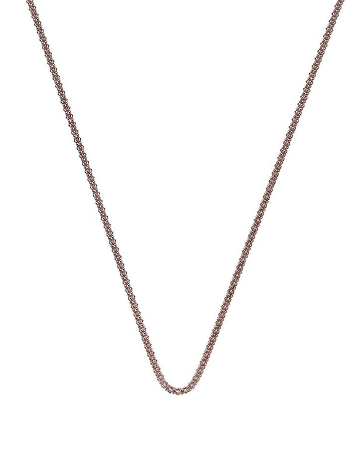 "Emozioni Rose Gold Plated 18"" Popcorn Chain"