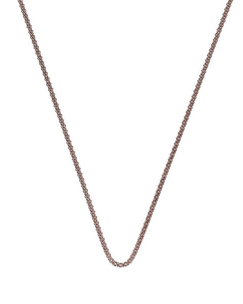 "Emozioni Rose Gold Plated 30"" Popcorn Chain - CH038"