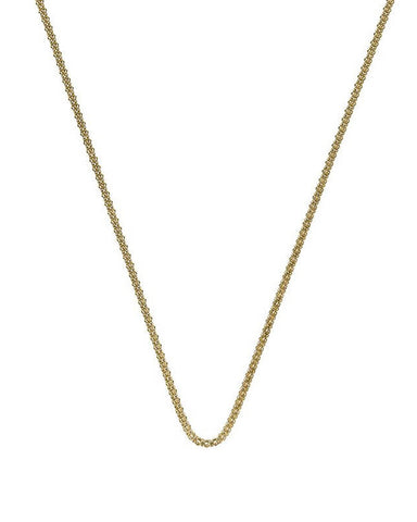 "Emozioni Yellow Gold Plated 30"" Popcorn Chain - CH044"