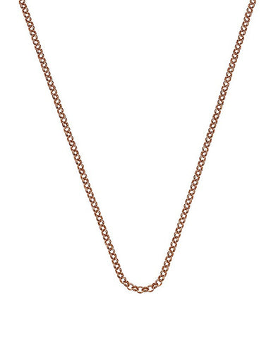 "Emozioni Rose Gold Plated 24"" Belcher Chain - CH054"
