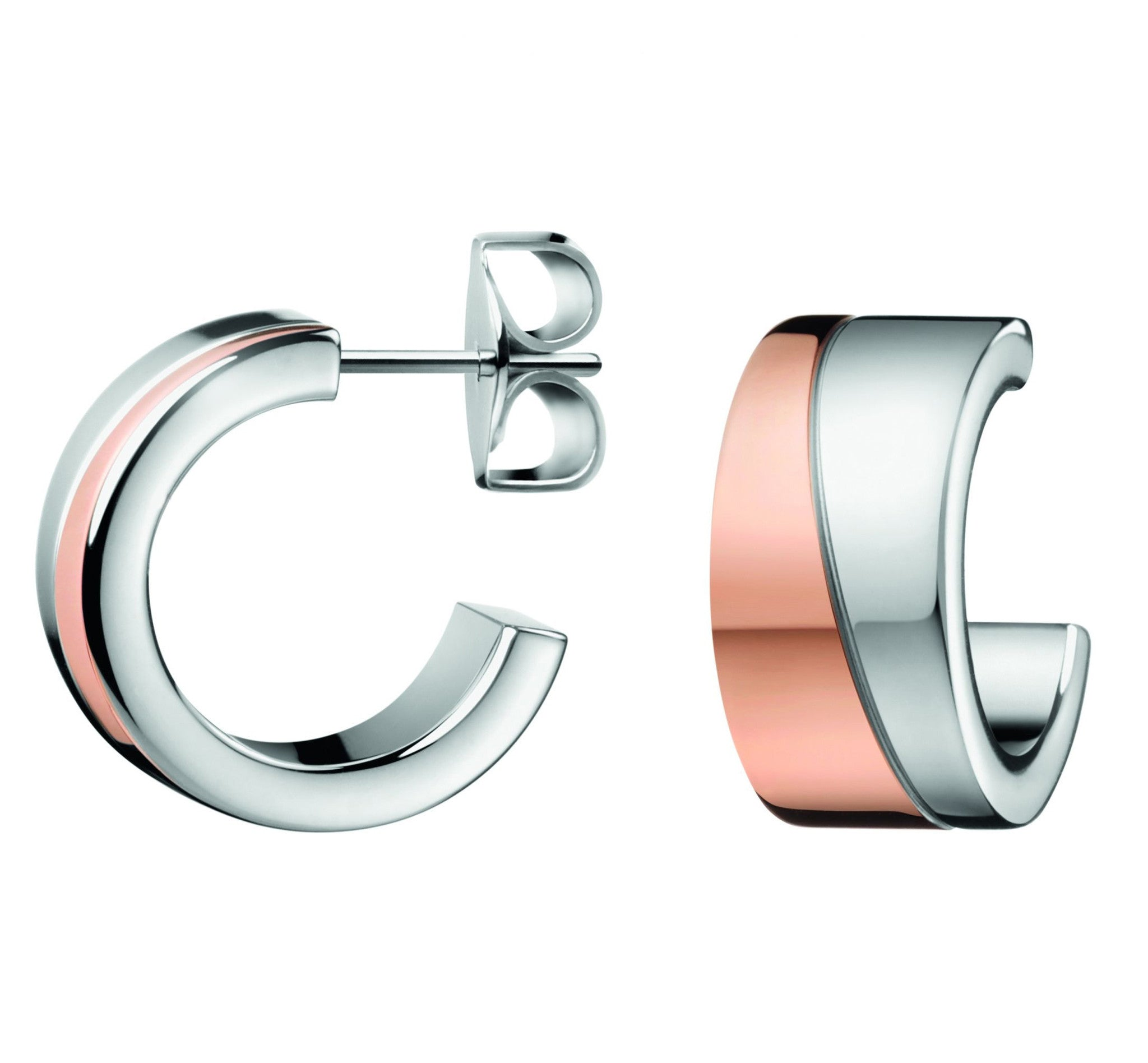 Calvin Klein Two-Tone Steel Hook Earrings