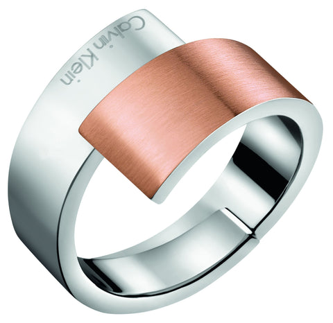 Calvin Klein Two-Tone Steel Hook Ring