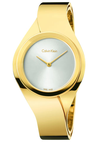 Calvin Klein Gold Plated Senses Ladies Watch