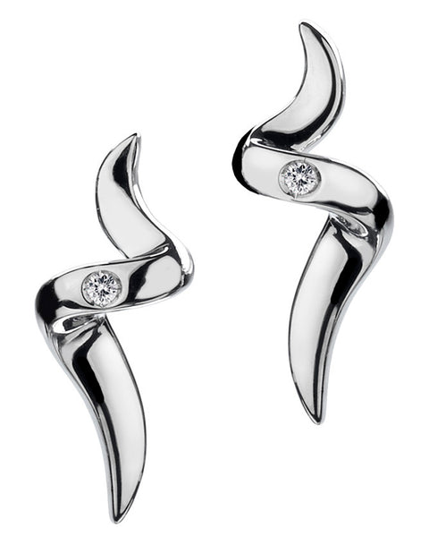 Hot Diamonds Go with the Flow Spiral Earrings