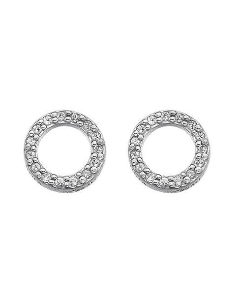 Hot Diamonds Bliss Circle Sterling Silver Stud Earrings - DE534