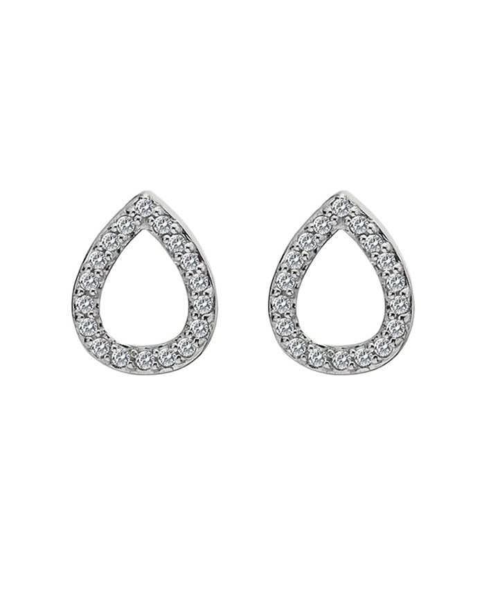 Hot Diamonds Bliss Teardrop Silver & White Topaz Earrings