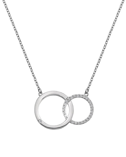 Hot Diamonds Bliss Interlocking Circles Silver Pendant - DN127