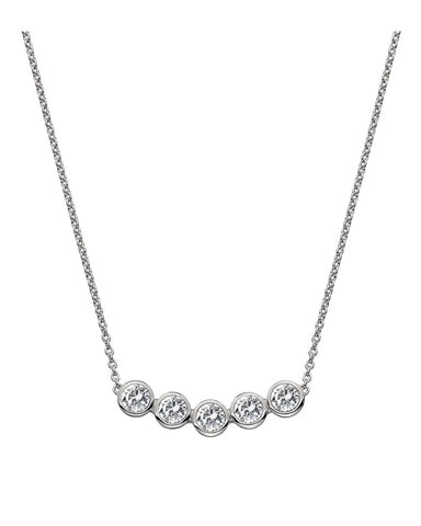 Hot Diamonds Tender Silver & White Topaz Necklace