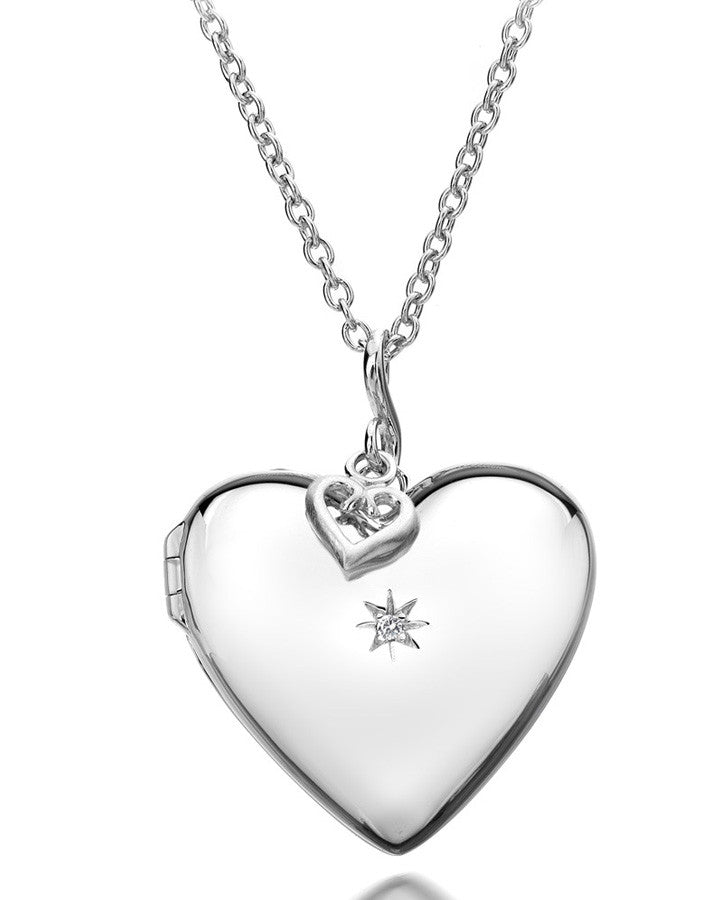 Hot Diamonds Starry Heart Silver Pendant DP132