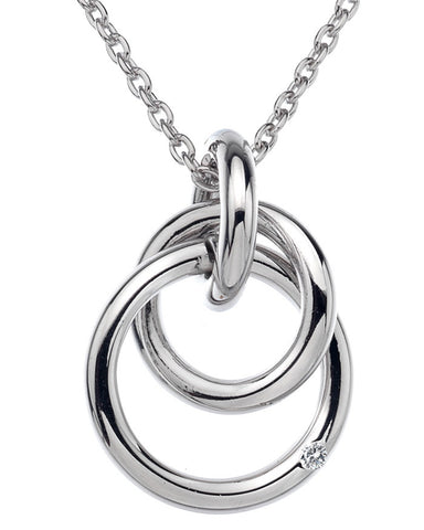 Hot Diamonds Eternity Silver Interlocking Pendant