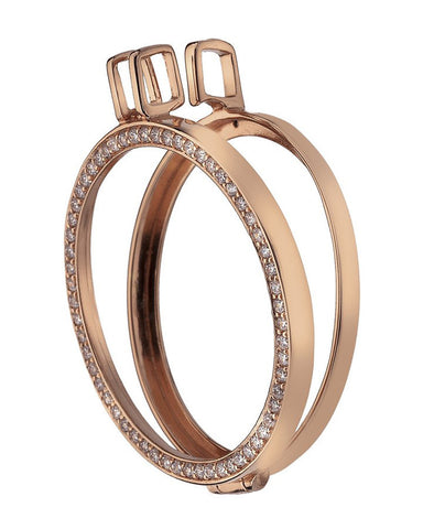 Emozioni Reversible Rose Gold Plated Sterling Silver Keeper 33mm - DP557