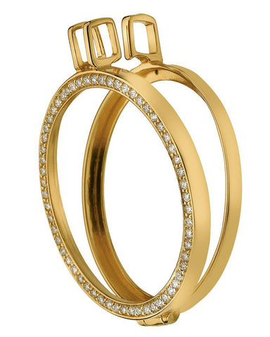 Emozioni Reversible Gold Plated Sterling Silver Keeper 33mm - DP559