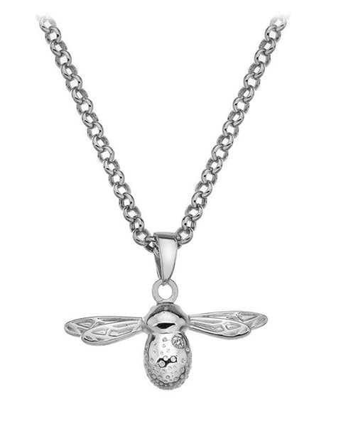 Hot Diamonds Silver Natural Bee Pendant