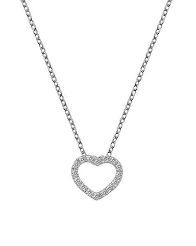 Hot Diamonds Bliss Heart Sterling Silver Pendant - DP662