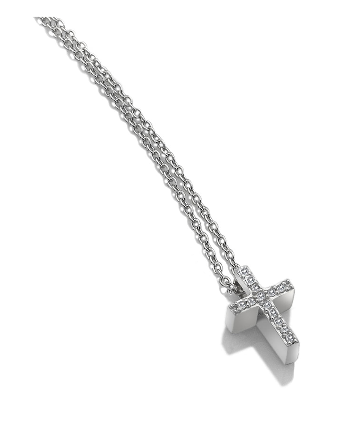 Hot Diamonds Bliss Cross Silver & White Topaz Pendant