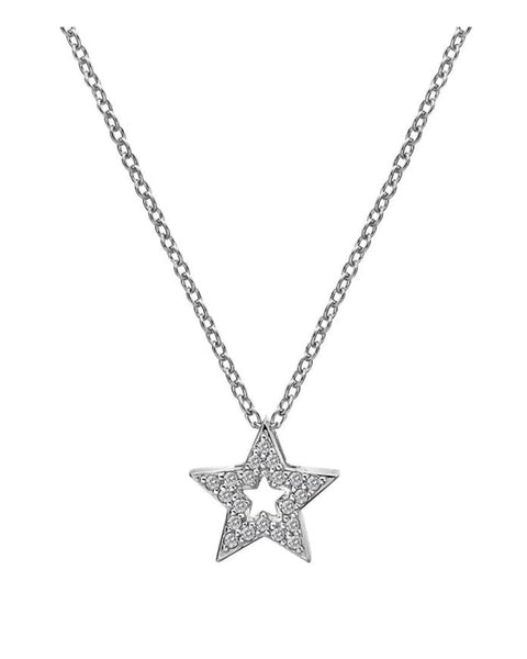 Hot Diamonds Bliss Star Silver & White Topaz Pendant