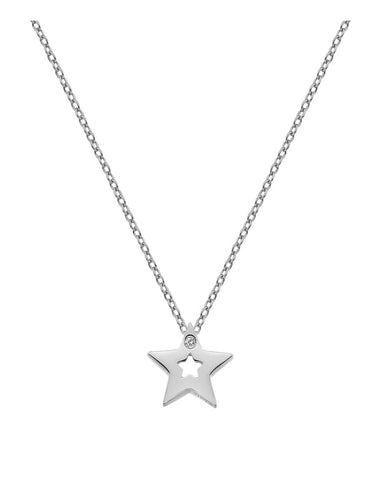Hot Diamonds Silver Diamond Amulet Star Pendant