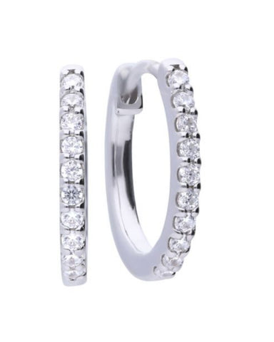 Diamonfire Sterling Silver & Cubic Zirconia Hoop Earrings
