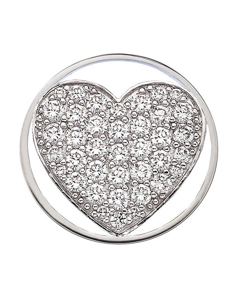 Emozioni Ice Sparkle Heart 25mm Coin - EC067