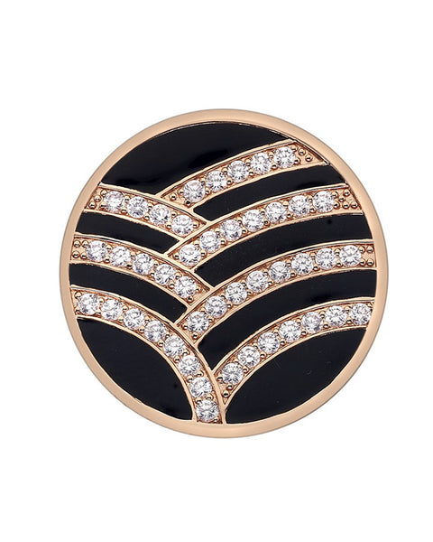 Emozioni Art Deco Rose Gold 25mm Coin - EC134