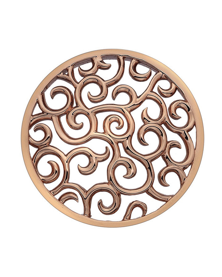 Emozioni Winding Path Rose Gold 25mm Coin - EC144