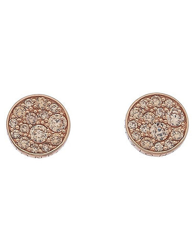 Emozioni Rose Gold Plated Loyalty Champagne Earrings