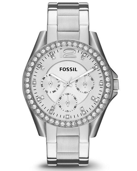 Fossil Riley Multifunction Stainless Steel Watch ES3202