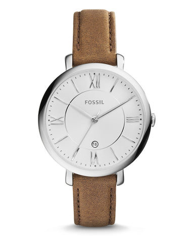 Fossil Jaqueline Brown Leather Ladies Watch