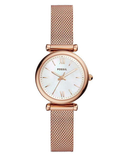 Fossil Carlie Mini Rose Gold Plated Ladies Watch