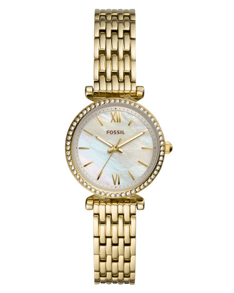 Fossil Carlie Mini Gold Plated Ladies Watch