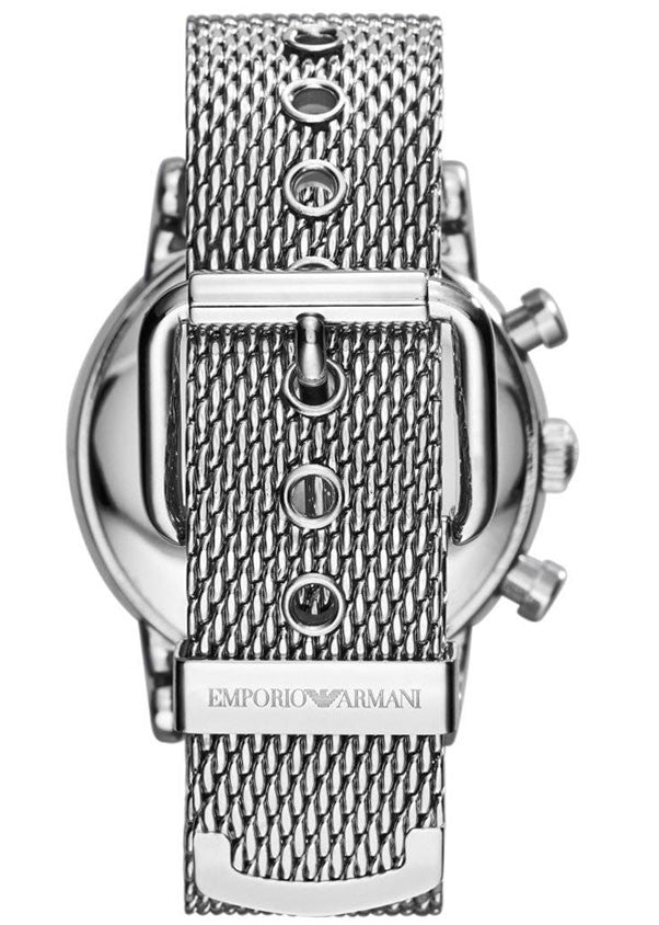 Emporio Armani Men's Chronograph Stainless Steel Bracelet Strap Watch - 1811