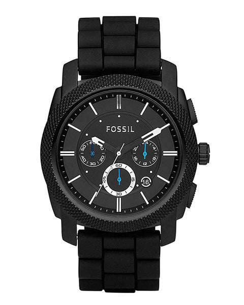 Fossil Machine Chronograph Silicone Strap Mens Watch