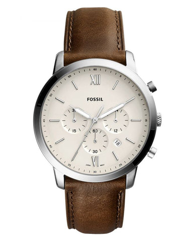 Fossil Neutra Chronograph Brown Leather Mens Watch
