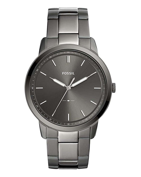 Fossil Minimalist Smoke Stainless Steel Mens Watch