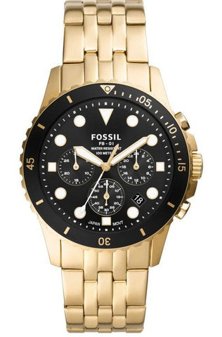 Fossil FB-01 Chronograph Gold Stainless Steel Watch FS5836