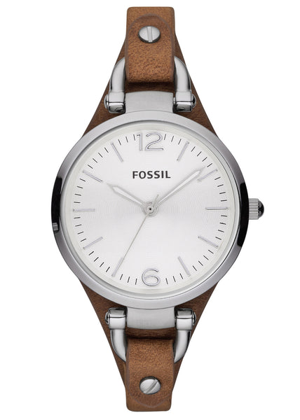 Fossil Georgia Three Hand Leather Watch – Tan