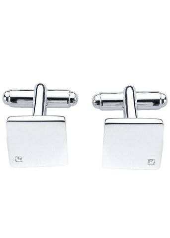 Fred Bennett Silver Diamond Square Cufflinks