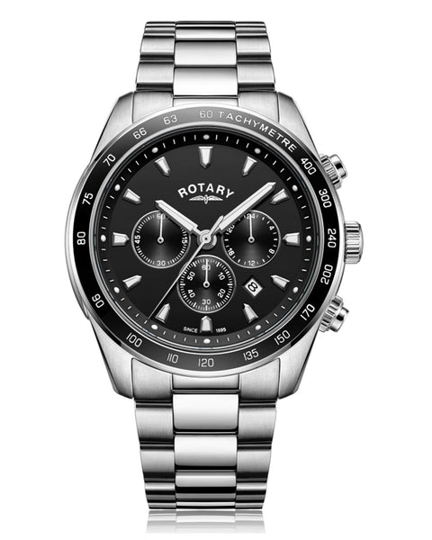 Rotary Gents Black Henley Chronograph Watch