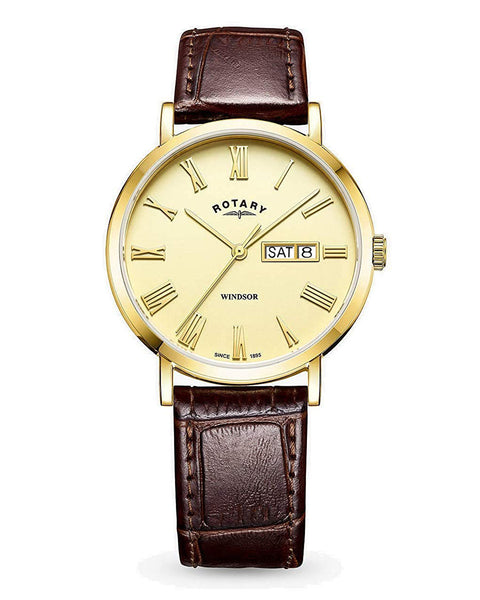 Rotary Gents Windsor Gold Plated Watch