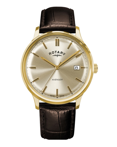 Rotary Gents Avenger Gold Plated Champagne Dial Watch