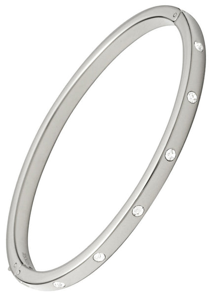 Fossil Silver Dainty Dot Bangle
