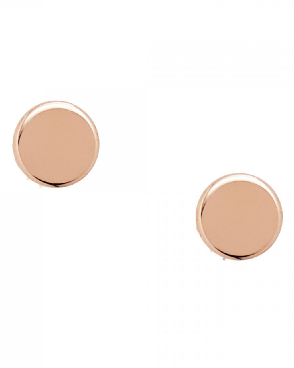 Fossil Rose Gold Plated Tiny Round Stud Earrings