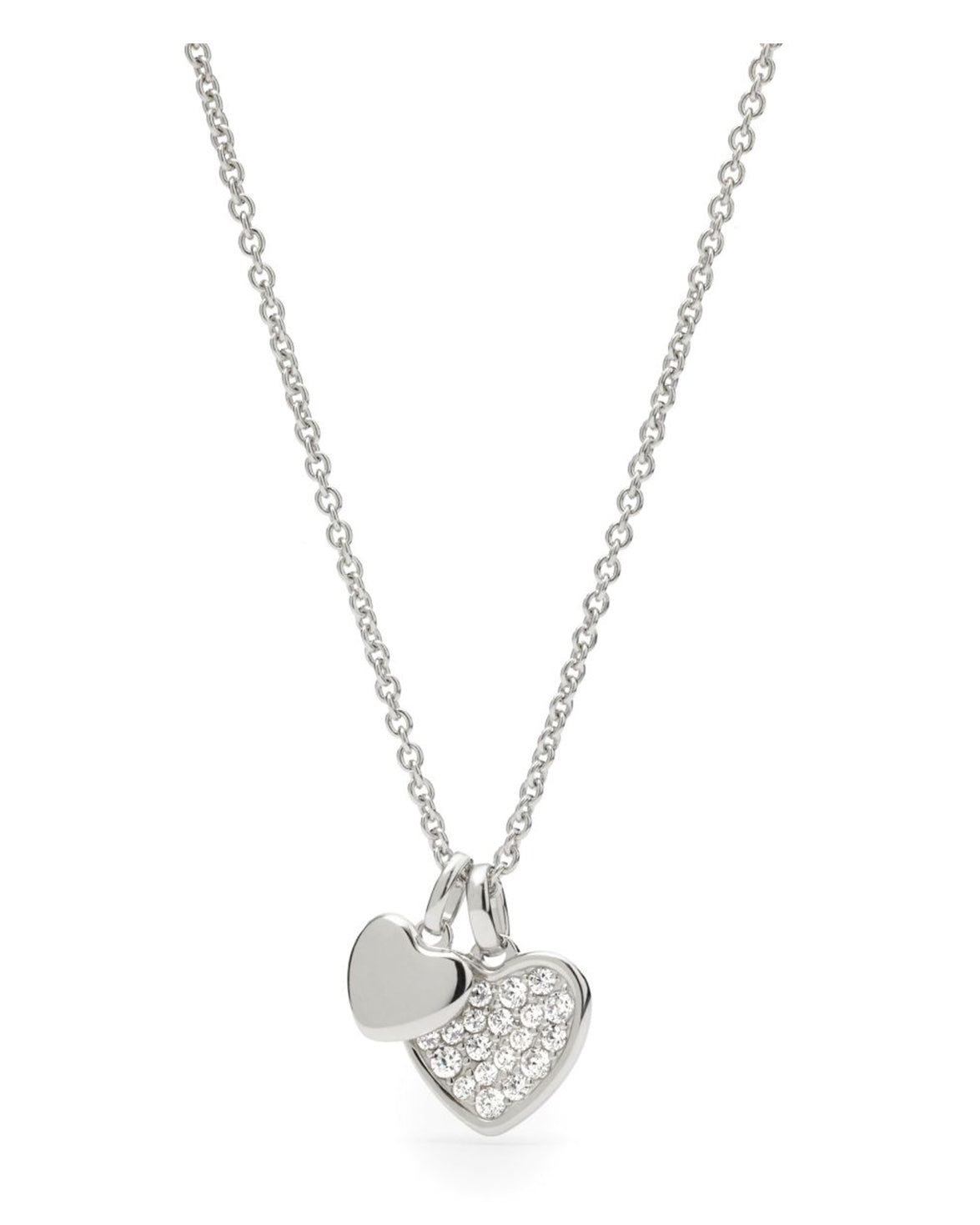 Fossil Silver Plated Stainless Steel Heart Necklace