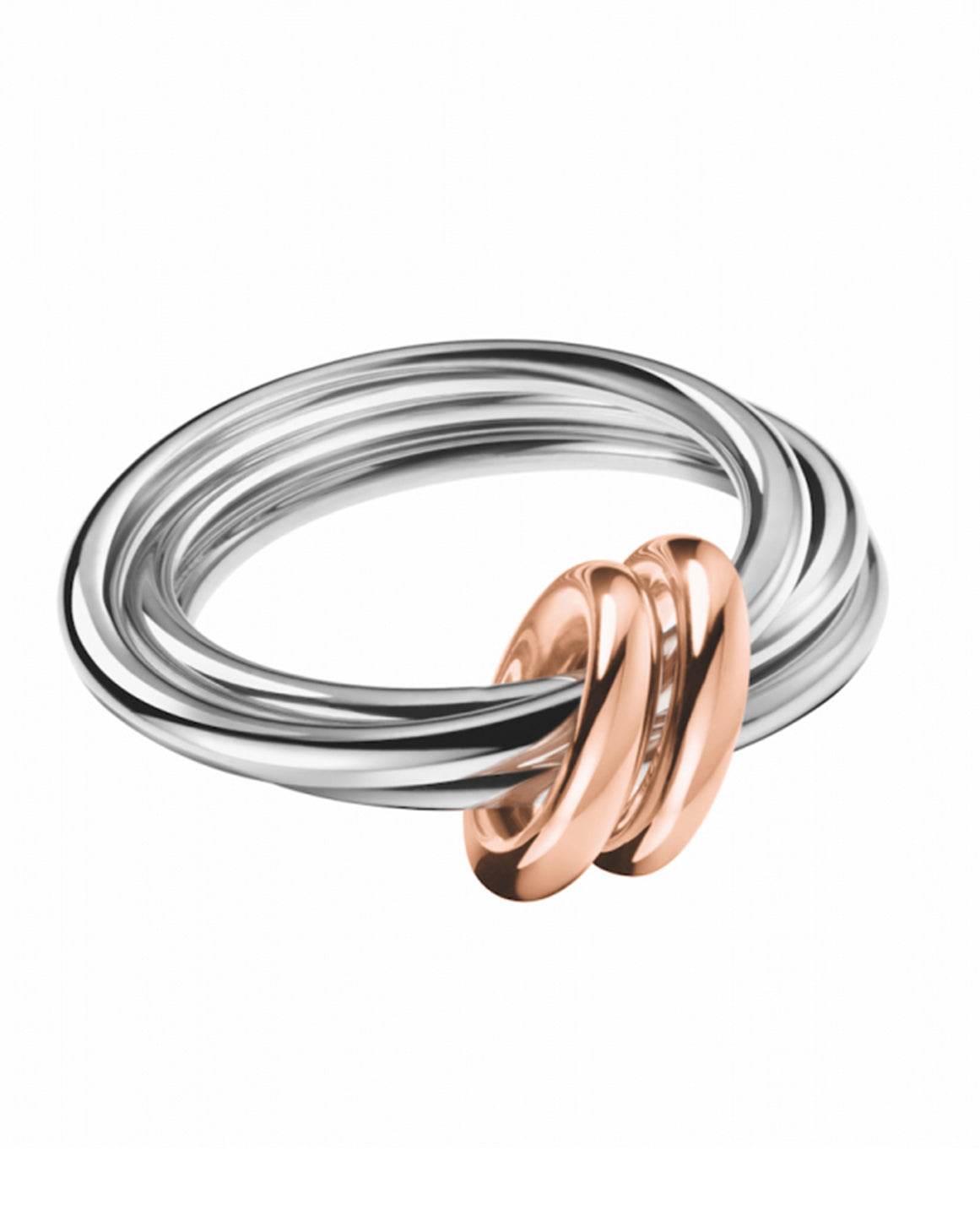 Calvin Klein Ladies Rose Gold & Stainless Steel Nimble Ring