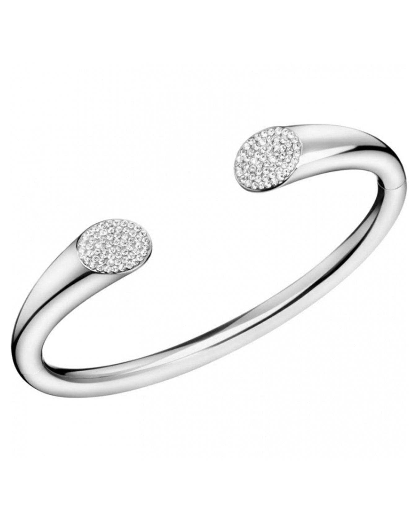 Calvin Klein Ladies Stainless Steel & Zirconia Brilliant Bangle