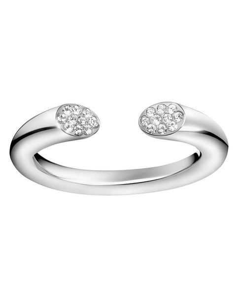 Calvin Klein Ladies Stainless Steel & Zirconia Brilliant Ring