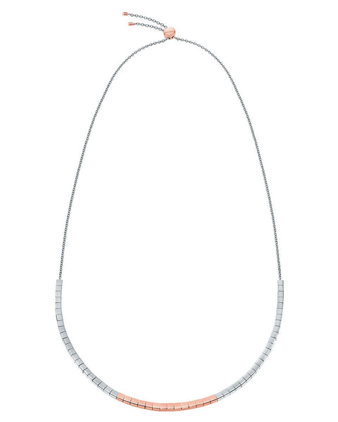Calvin Klein Ladies Tune Two-Tone Necklace